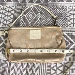Mini coach bag/wristlet